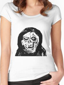 Scary Deformed Monster Face Women's Fitted Scoop T-Shirt