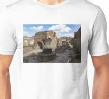 Ancient Pompeii - Bakery of Modestus Millstones and Bread Oven Unisex T-Shirt