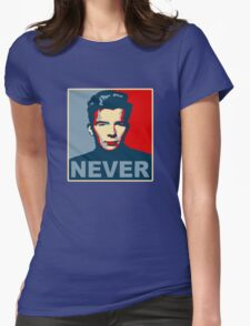 Never Gonna Give Up Hope Womens Fitted T-Shirt