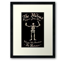 Black Sails - The Walrus Framed Print