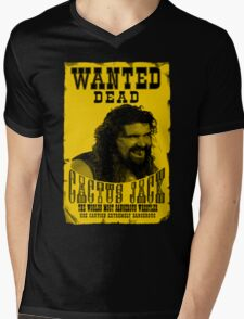Wanted Cactus Jack Mens V-Neck T-Shirt