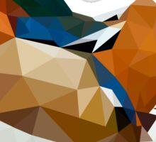 Geometric mandarin duck Sticker