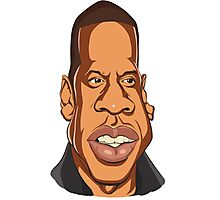 Jay-z caricature Photographic Print