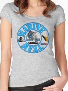 Rail Sail Marine Team ~ Riviera Visual Graphic Design Sydney ~ Women's Fitted Scoop T-Shirt