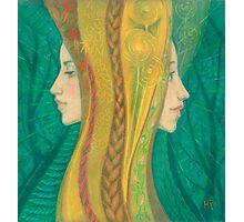 The Summer, pastel painting, visionary art, forest fantasy Photographic Print