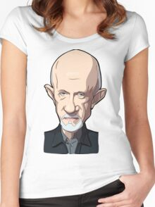 Mike Breaking bad caricature Women's Fitted Scoop T-Shirt