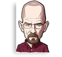 Walter White Breaking Bad Caricature Canvas Print