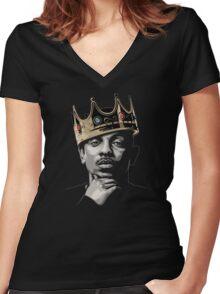 Kendrick Lamar [4K] [GOOD QUALITY] Women's Fitted V-Neck T-Shirt
