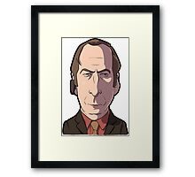 Saul Breaking Bad Caricature Framed Print