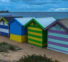 Iconic Brighton Beach Boxes  Sticker
