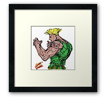 Streetfighter 2 Guile Framed Print