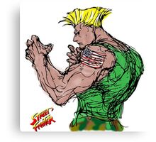 Streetfighter 2 Guile Canvas Print