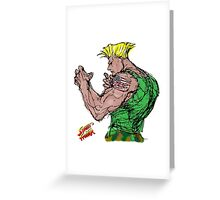 Streetfighter 2 Guile Greeting Card