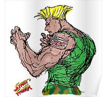 Streetfighter 2 Guile Poster