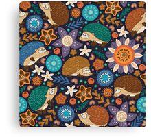 Little hedgehogs Canvas Print