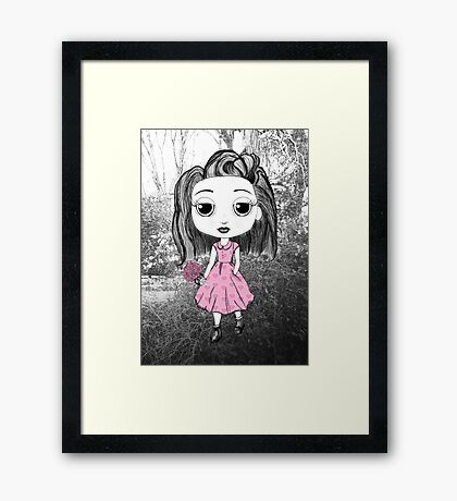 Little Miss in the Forest Framed Print