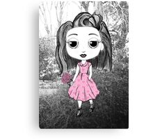 Little Miss in the Forest Canvas Print