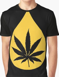 Dab Droplet Weed Leaf Graphic T-Shirt