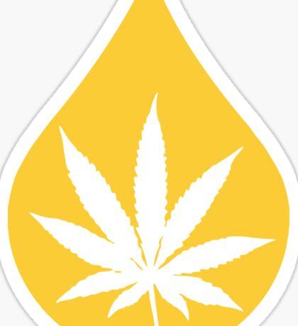 Dab Droplet Weed Leaf Sticker