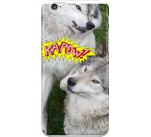 Wolves at play - Timber Wolf iPhone Case/Skin