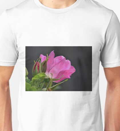 Beach plum rose profile Unisex T-Shirt