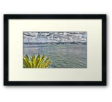 the river in Lisbon Framed Print