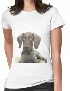 Glossy Grizzly German Shorthaired Pointer Womens Fitted T-Shirt