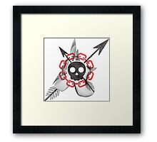 On Death and Love and Chains  Framed Print
