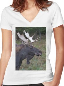 Canadian Moose Women's Fitted V-Neck T-Shirt