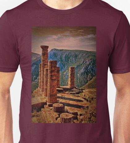 Greece. Delphi. The Ruins of Temple of Apollo. Unisex T-Shirt