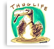 cartoon style cool duck thuglife Canvas Print