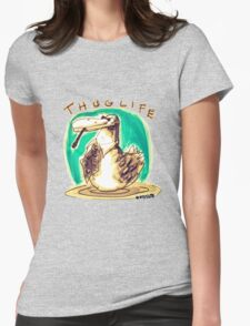 cartoon style cool duck thuglife Womens Fitted T-Shirt