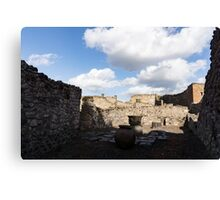 Ancient Pompeii - a Bakery in the Deep Shadows Canvas Print