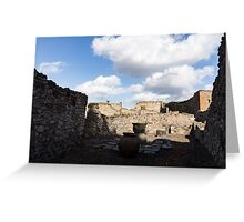 Ancient Pompeii - a Bakery in the Deep Shadows Greeting Card