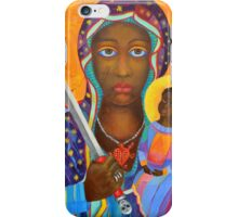 Black Madonna Poland. Black Madonna artwork from Poland. Polish Madonna print. Polish Madonna artist. Polish Black Madonna.  Black Virgin painting portrait, Our black Lady art. Religious painting iPhone Case/Skin