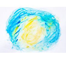 Abstract water color textured background Photographic Print
