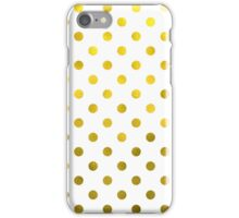 Gold White Polka Dot Pattern Digital Paper iPhone Case/Skin