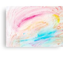 Colorful abstract water color textured background Canvas Print