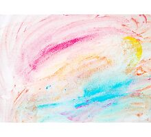 Colorful abstract water color textured background Photographic Print