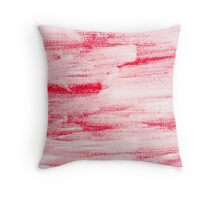 Red abstract water color textured background  Throw Pillow