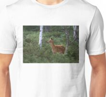 White Tailed Deer Fawn in Junipers Unisex T-Shirt
