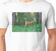 White-Tailed Deer Fawn on the run Unisex T-Shirt