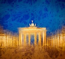Modern Art BERLIN Brandenburg Gate by Melanie Viola