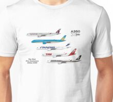 Airbus A350 First Five Customers Illustration Unisex T-Shirt