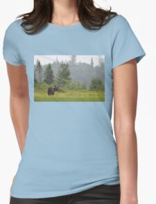 Grassy marsh moose - Algonquin Park, Canada Womens Fitted T-Shirt