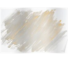 Monochrome abstract water color background  Poster