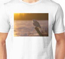 Sunset Hunter - Snowy Owl Unisex T-Shirt