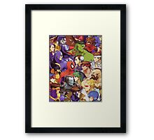 Heroes comics vs games Framed Print