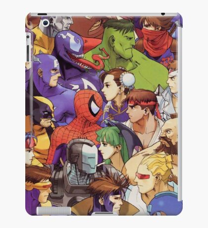 Heroes comics vs games iPad Case/Skin