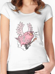 Pigs Rock! Women's Fitted Scoop T-Shirt